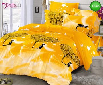 Спално бельо от 100% памук, 6 части - двулицево, с код 41-66
