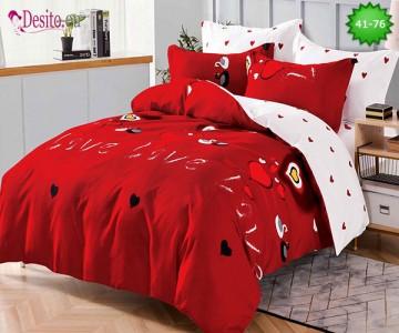 Спално бельо от 100% памук, 6 части - двулицево, с код 41-76