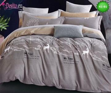 Спално бельо от 100% памук, 6 части - двулицево, с код 41-81