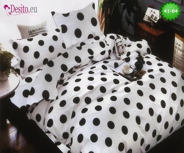 Спално бельо от 100% памук, 6 части - двулицево, с код 41-84