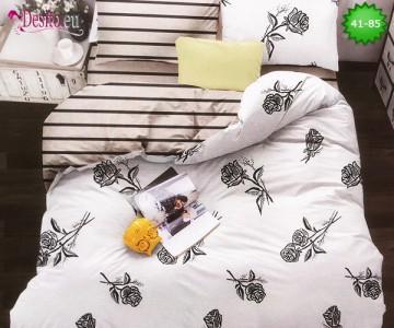 Спално бельо от 100% памук, 6 части - двулицево, с код 41-85