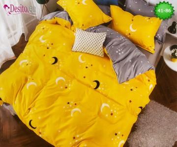 Спално бельо от 100% памук, 6 части - двулицево, с код 41-86