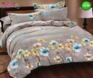 Спално бельо от 100% памук, 6 части - двулицево, с код 41-88