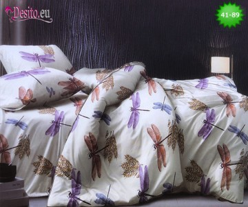 Спално бельо от 100% памук, 6 части - двулицево, с код 41-89