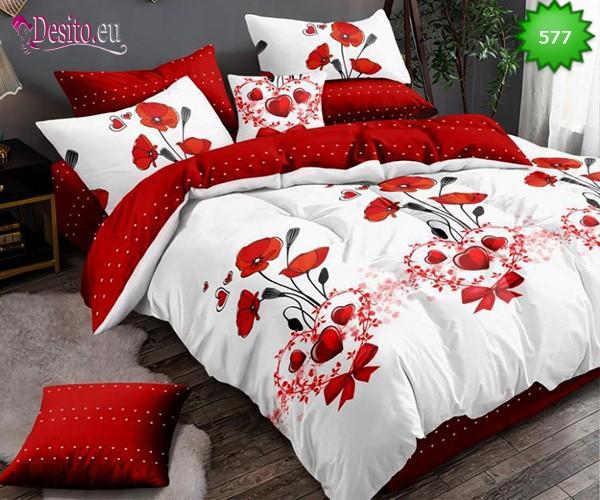 Спално бельо от 100% памук, 6 части, двулицево с код 577