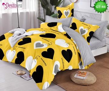 Спално бельо от 100% памук, 6 части и чаршаф с ластик с код GT-46