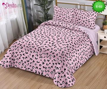 Спално бельо от 100% памук, 4 части и чаршаф с ластик с код E-02