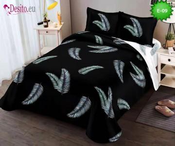 Спално бельо от 100% памук, 4 части и чаршаф с ластик с код E-09