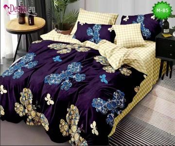 Спално бельо от 100% памук, 6 части - двулицево, с код M-85