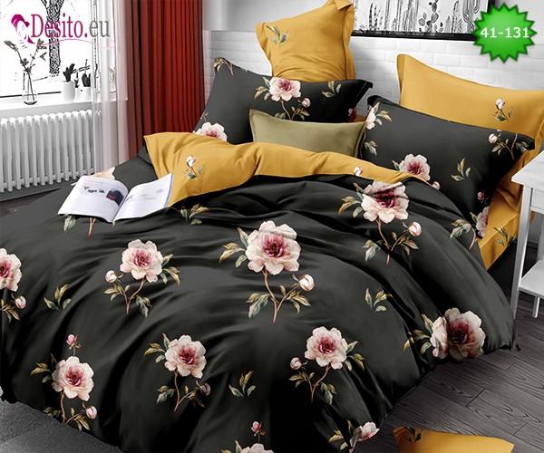 Спално бельо от 100% памук, 6 части - двулицево, с код 41-131