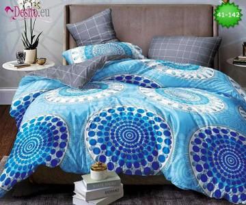 Спално бельо от 100% памук, 6 части - двулицево, с код 41-142