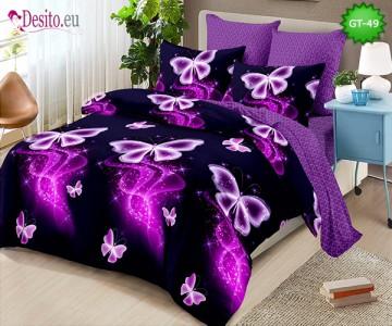 Спално бельо от 100% памук, 6 части и чаршаф с ластик с код GT-49