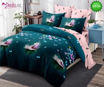 Спално бельо от 100% памук, 6 части и чаршаф с ластик с код GT-54