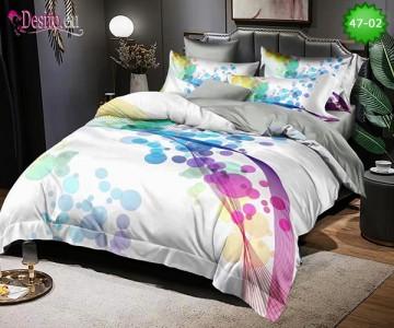 Спално бельо от 100% памук, 6 части, двулицево с код 47-02