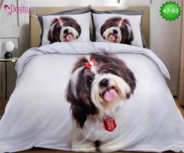 Спално бельо от 100% памук, 6 части, двулицево с код 47-03