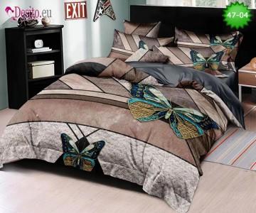 Спално бельо от 100% памук, 6 части, двулицево с код 47-04