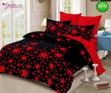 Спално бельо от 100% памук, 6 части и чаршаф с ластик с код C5-43