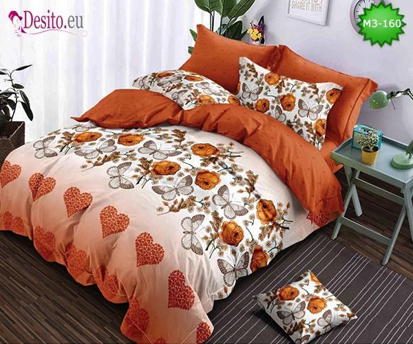 Спално бельо от 100% памук, 6 части, двулицево с код M3-160