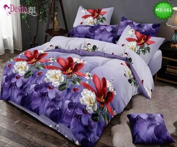 Спално бельо от 100% памук, 6 части, двулицево с код M3-161