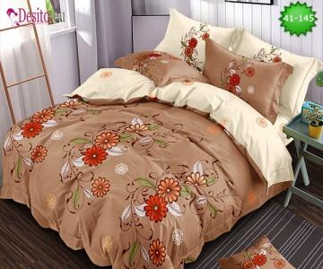 Спално бельо от 100% памук, 6 части - двулицево, с код 41-145