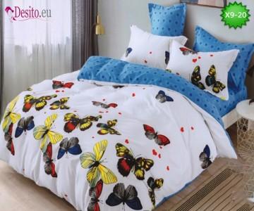 Спално бельо от 100% памук, 6 части - двулицево, с код X9-20