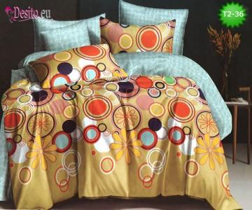 Спално бельо от 100% памук, 6 части - двулицево, с код T2-36