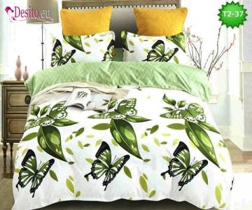 Спално бельо от 100% памук, 6 части - двулицево, с код T2-37