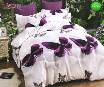 Спално бельо от 100% памук, 6 части - двулицево, с код T2-39