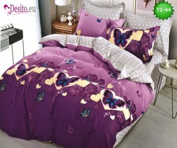 Спално бельо от 100% памук, 6 части - двулицево, с код T2-44