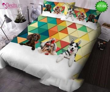 Спално бельо от 100% памук, 6 части, двулицево с код 47-06