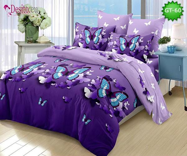 Спално бельо от 100% памук, 6 части и чаршаф с ластик с код GT-60