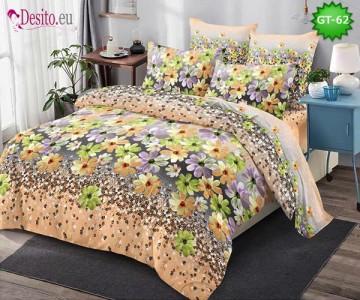 Спално бельо от 100% памук, 6 части и чаршаф с ластик с код GT-62