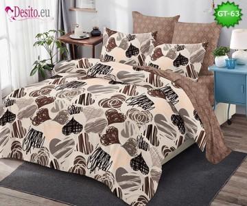Спално бельо от 100% памук, 6 части и чаршаф с ластик с код GT-63
