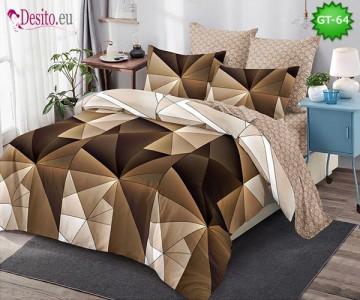 Спално бельо от 100% памук, 6 части и чаршаф с ластик с код GT-64