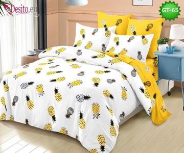 Спално бельо от 100% памук, 6 части и чаршаф с ластик с код GT-65