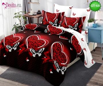 Спално бельо от 100% памук, 6 части и чаршаф с ластик с код GT-68