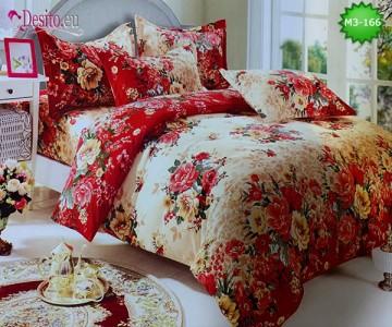 Спално бельо от 100% памук, 6 части, двулицево с код M3-166