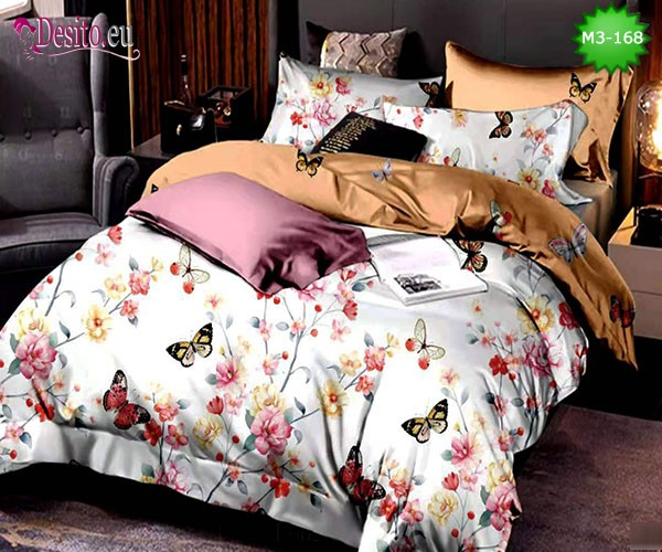 Спално бельо от 100% памук, 6 части, двулицево с код M3-168