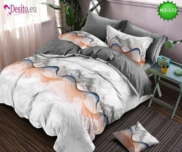 Спално бельо от 100% памук, 6 части, двулицево с код M3-172