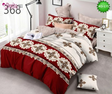 Спално бельо от 100% памук, 6 части, двулицево с код M3-175