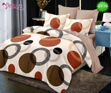 Спално бельо от 100% памук, 6 части и чаршаф с ластик с код GT-70