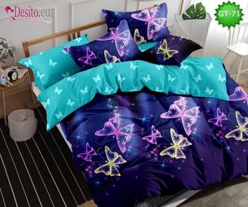 Спално бельо от 100% памук, 6 части и чаршаф с ластик с код GT-71