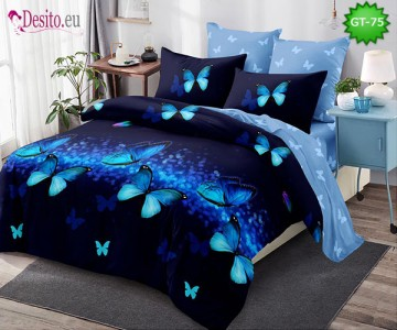 Спално бельо от 100% памук, 6 части и чаршаф с ластик с код GT-75