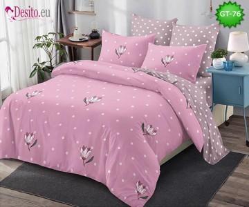 Спално бельо от 100% памук, 6 части и чаршаф с ластик с код GT-76