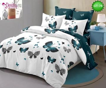 Спално бельо от 100% памук, 6 части и чаршаф с ластик с код GT-78