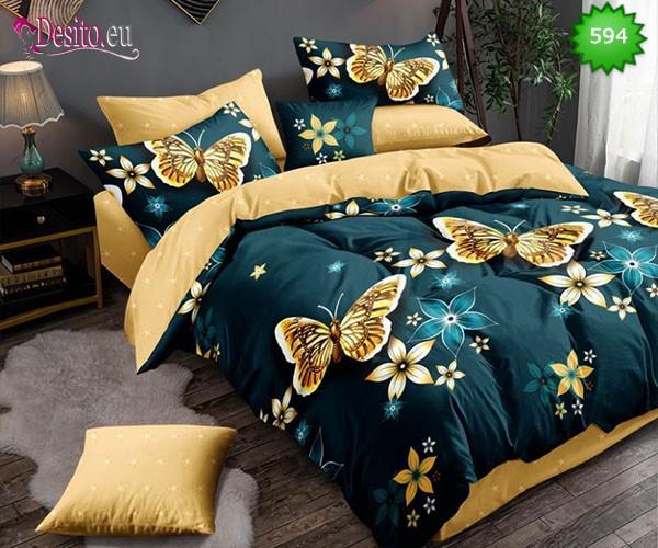 Спално бельо от 100% памук, 6 части, двулицево с код 594