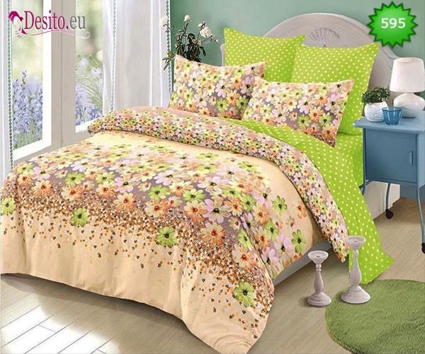 Спално бельо от 100% памук, 6 части, двулицево с код 595