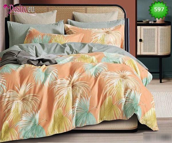 Спално бельо от 100% памук, 6 части, двулицево с код 597