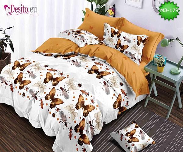 Спално бельо от 100% памук, 6 части, двулицево с код M3-179