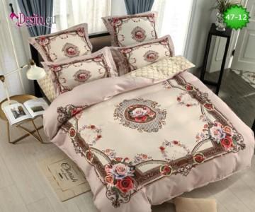 Спално бельо от 100% памук, 6 части, двулицево с код 47-12